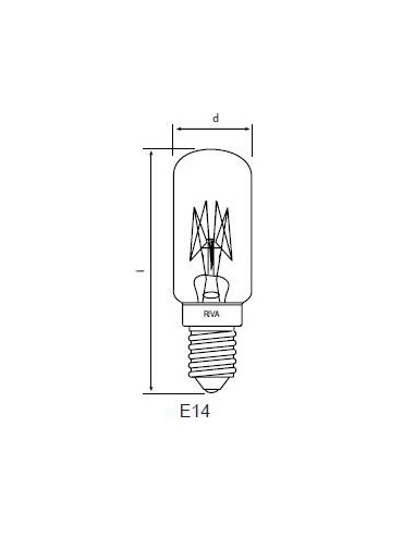 Symaskinslampa 18x57 15W E14