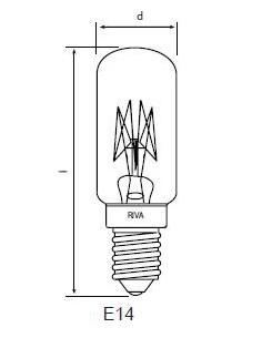 Symaskinslampa 22x63 15W E14