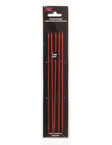 Strumpstickor röd 15cm 3,5mm