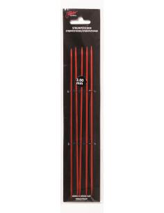 Strumpstickor röd 15cm 4mm
