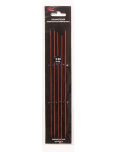 Strumpstickor röd 15cm 2mm