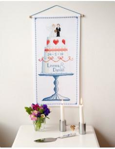 "Vepa Bröllopsminne ""Tårtan"" 27 x 54 cm"