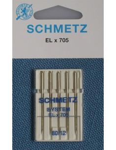 Symaskinsnål ELX705 Size 80 Schmetz