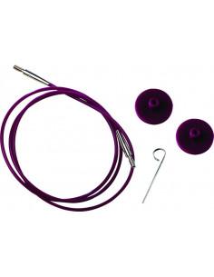 Knitpro kabel rosa 40cm
