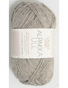 Alpakka Ull 1042 Ljusgrå