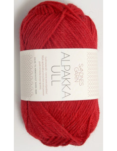 Alpakka Ull 4219 Röd