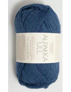 Alpakka Ull 6364 Mörkblå