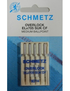 Schmetz Overlock ELx705 SUK CF Jersey 90/14 5-pak