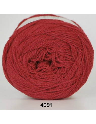 Organic 350 Wool Cotton Röd 4091