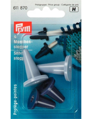 Prym Stickstoppar för stickor 2-7 mm 4 pak