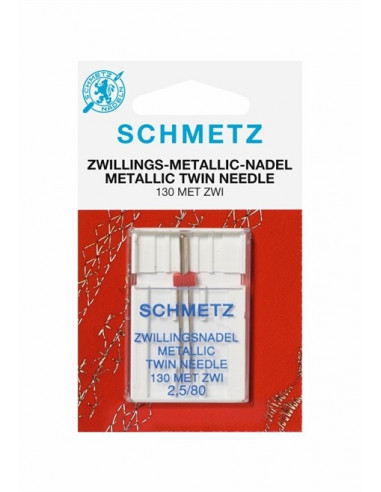 Schmetz Tvilling /- Metalic130MET ZWI NE 2,5 Size 80