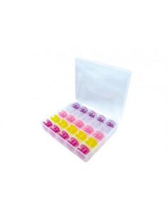 Spol box med 25 st CB-spolar färgade