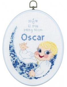 Doptavla 20x25 Oscar Blå