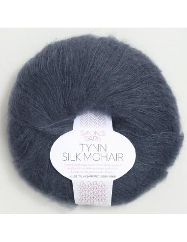 Tynn Silkmohair Djupblå 6081