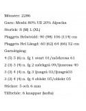 Stickbeskrivning 2286 Moshi