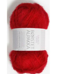Borstad Alpakka Röd 4219
