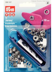 Tryckknappar Jersey 10mm 10st