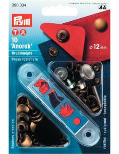 Tryckknappar Anorak 12mm Antik