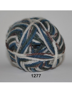 Ragg 50g 1277 Beige/natur/blåprint