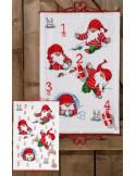 Julkalender 40x60cm Busiga Tomtar