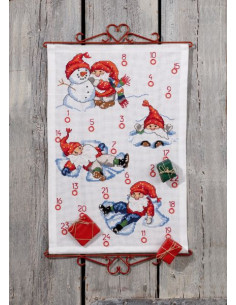 Julkalender 40x60cm Lek i Snön