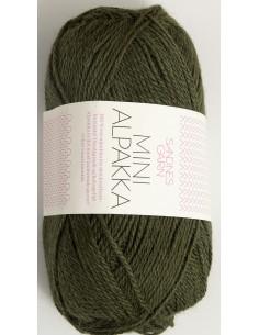 Mini Alpakka 9573 Mossgrön