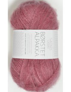 Borstad Alpakka 4324 Varm Rosa