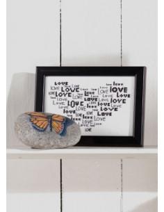 """Tavla 14x9 """"Love"""" i hjärta"""
