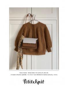 Stickbeskrivning PetitKnit Novice sweater-mohair edition