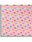 Tyg Jersey Rosa m. elefanter 95%Bom 5%elest