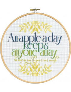 Broderi An Apple a day 20cm
