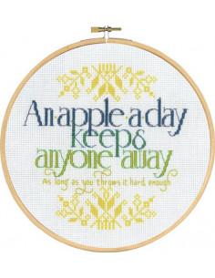 Broderi An Apple a day 20cm