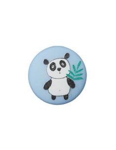 Knapp 12mm Panda Blå
