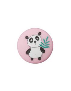 Knapp 12mm Panda Rosa