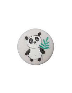Knapp 12mm Panda Grå