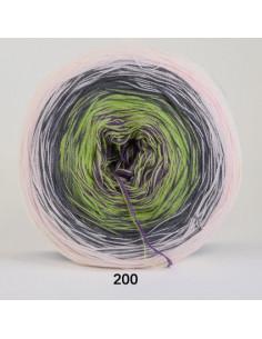 Rainbow Cotton 200 Lusrosa/Grå/Lila