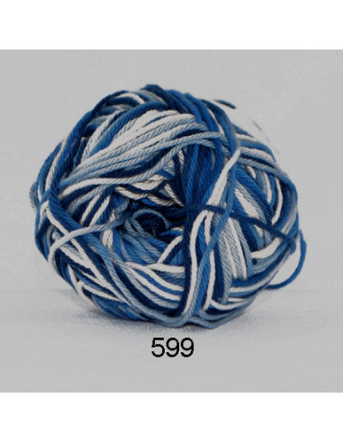 Cotton 8 print 599 Blå/Beige