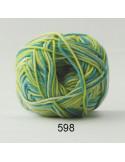 Cotton 8 print 598 Grön/Gul/Turkos