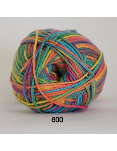 Cotton 8 print 600 Gul/Turkos/Cerise