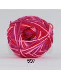 Cotton 8 print 597 Rosa/lila